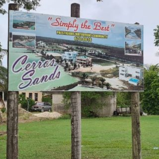 New sign at the Corozal Airport