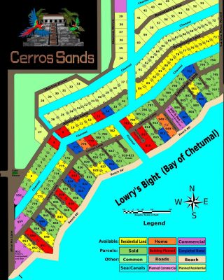 Updated Map showing current construction and home plans.  #belize #belizerealestate